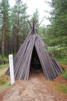 A Sami tipi at the Siida Museum