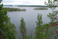 View across Lake Inari from the island of Ukonsaari