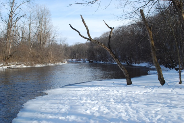 At the northwestern end of the Arb: view of the Huron River.