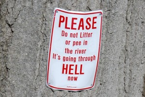 Do not litter in Hell