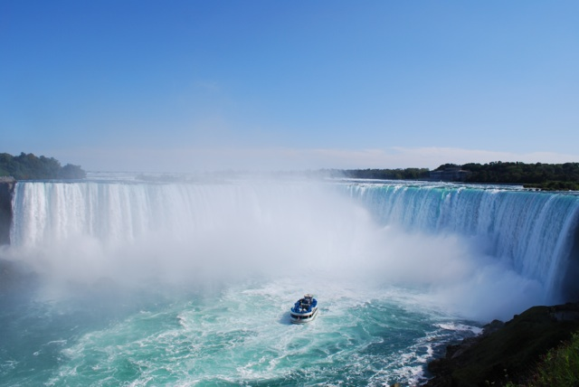 The Horseshoe Falls at Niagara Falls.