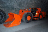 A machine to haul ore from the mining shafts to the elevators
