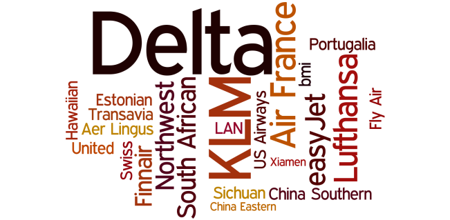 Airline word cloud
